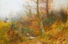 Autumn Leaves, Bushey by Thomas Edwin Mostyn