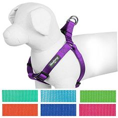 """Blueberry Pet 7 Colors Step-in Classic Dog Harness, Chest Girth 20"""" - 26"""", Dark Orchid, Adjustable Harnesses for Dogs *** More info could be found at the image url. We are a participant in the Amazon Services LLC Associates Program, an affiliate advertising program designed to provide a means for us to earn fees by linking to Amazon.com and affiliated sites."""