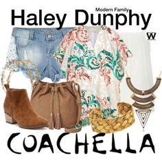 A Coachella festival fashion look inspired by Sarah Hyland as Haley Dunphy on Modern Family. Tv Show Outfits, Coachella Festival, Modern Family, New Wardrobe, Hippie Chic, Festival Fashion, Spring Summer Fashion, Streetwear Brands, Fashion Forward