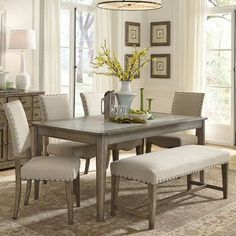 FREE SHIPPING! Shop Joss & Main for your Camille Dining Table. Finding the perfect balance between traditional and trendy is at times a challenge. The Weatherford dining collection strikes that balance with the weathered gray finish and the concrete insert tops.