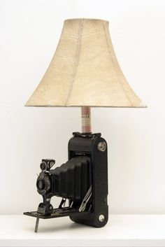 Upcycled Kodak Camera Lamp