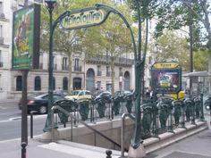Paris, Métropolitain, Entrée de la station Kléber, arch. Hector Guimard