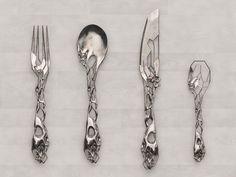 eragatory cutlery set by isaie bloch