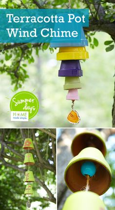 Put those old clay pots to good use by breathing new life into them! Decorate them to your liking, attach them to a string (with a wooden bead -- nothing to scary) hang them in a fun space in your yard and you have a new piece of adorable garden decor. Our simple step-by-step instructions (with pictures) take you through the process. Click to see instructions!