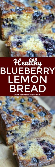 This Blueberry Lemon Bread is not only super moist and scrumptious, it's healthy! It's a perfect way to satisfy your sweet tooth.