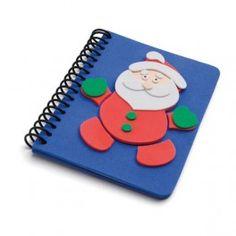 Cuaderno goma EVA Papa Noél puzzle - detallesparainvitados.com