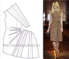45 Ideas vintage kleding maken for 2019 Dress Sewing Patterns, Clothing Patterns, Pattern Draping, Dress Tutorials, Pattern Cutting, Draped Dress, Fashion Sewing, Sewing Techniques, Sewing Clothes