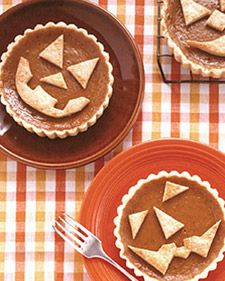 Food.  Use dough cutouts to give pumpkin tartlets some friendly -- or fiendish -- character.
