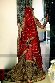 """beautiful twist on the classic bridal lehenga! for more, follow my """"South Asian Fashion -BRIDAL COUTURE"""" board!"""