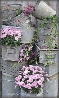 Ideas para decorar un hermoso jardín vintage.