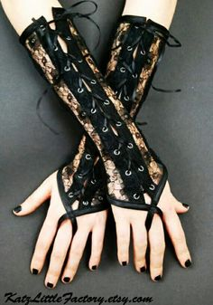 Gua tes largos sin dedos negros