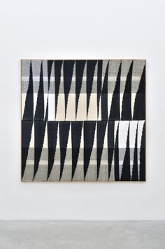 BRENT WADDEN Aligment #49, 2014 Handwoven fibers, wool, cotton and acrylic on canvas, 182,9 x 187,5 cm
