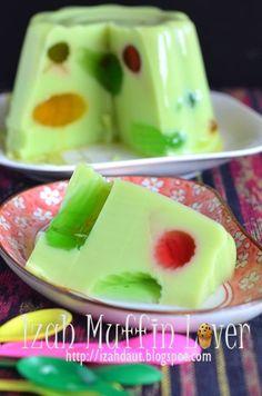 AGAR AGAR PANDAN KRISTAL Pudding Desserts, Pudding Recipes, No Bake Desserts, Dessert Recipes, Asian Desserts, Agar, Vegan Cake, Spicy Recipes, Unique Recipes