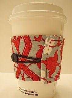 reversible coffee cozy; @Jennifer Milsaps Schwamb More Christmas gift ideas?