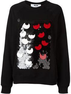 MSGM Sequin Embellished Sweatshirt. #msgm #cloth #sweatshirt