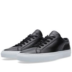 new concept 94eb1 64246 Common Projects Original Achilles Low White Sole (Black) Akilles, Sneakers  Mode, Converse