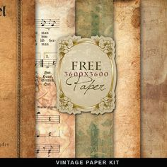 Far Far Hill: Freebies Vintage Paper