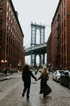 Brooklyn Bridge New York Lovers Session - Katherine Joy