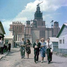 Строительство Московского государственного университета