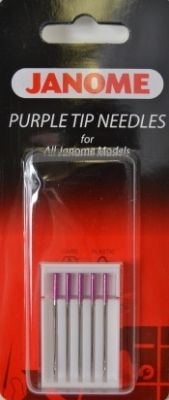 Janome Purple Tip Sewing Machine Needles - http://www.kenssewingcenter.com/images/31081-janome-purple-tip-sewing-mach...