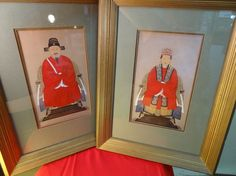 Antique Art CHINESE EMPEROR EMPRESS Ancestral Portrait PAINTING Pictures WOW!