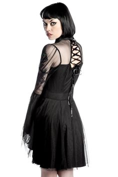 Bound By Blood Chiffon Dress [B] | KILLSTAR