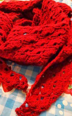 sjaal naar patroon Haken  kleur