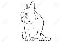 French Bulldog Tattoo, French Bulldog Art, Bulldog Drawing, Pencil Drawings Of Animals, Horse Coloring Pages, Graffiti Drawing, Dog Illustration, Dog Signs, Dog Pattern