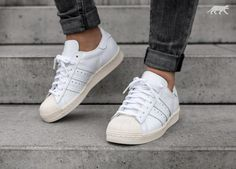 d50da2ed0ad Adidas Trainers Women s Superstar 80s White Off White - Landau Store -  Product Review - February 4