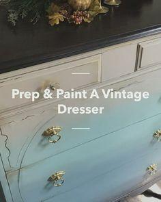 boss coffee Prep & Paint A Vintage Dresser - Gel Stain Furniture, Stained Dresser, Diy Furniture Restoration, Brown Dresser, Diy Dresser Makeover, Glass Dresser, Dressers For Sale, Dixie Belle Paint, Diy Outdoor Furniture