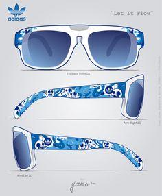 Adidas Eyewear - ¨Let It Flow¨ by YANO , via Behance