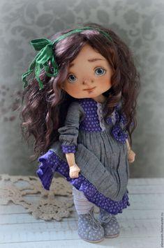Купить Ариана - фиолетовый, текстильная кукла, интерьерная игрушка, интерьерная кукла, коллекционная кукла