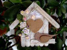 scrap for help: Pap - Casinha de Passarinho / Step by Step - Bird house