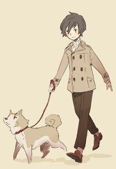 Minato and Koromaru