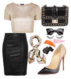 By.ch by carolinahernndezjj on Polyvore featuring polyvore, fashion, style, Topshop, Christian Louboutin, Valentino, Henri Bendel, By Terry and Bobbi Brown Cosmetics