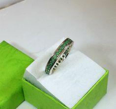 193 mm 925 Silber Ring Smaragde Handarbeit SR200 von Schmuckbaron