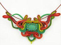 Choose Your Own Jewelry Styles Art Nouveau, Soutache Necklace, Crochet Necklace, Colored Tape, Estilo Boho, Small Earrings, Czech Glass, Etsy, Handmade Items