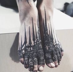 Lovely feet tattoo ideas. Follow us on Pinterest to see more ideas like this