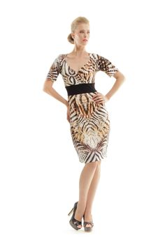 Looking for Dresses? Call off the search with our Faux Wrap Dress In Neutral Animal Print. Shop unique fashion at SilkFred Animal Print Dresses, Faux Wrap Dress, Unique Fashion, Stretch Fabric, Cool Style, Feminine, Formal Dresses, Stylish, Model