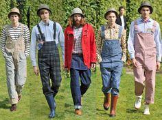 menswear_overalls_Junya Watanabe C DAmmora Bib Overalls, Dungarees, Country Wear, Hipster Man, Junya Watanabe, Mens Fashion, Fashion Trends, Farm Fashion, Fashion Forward