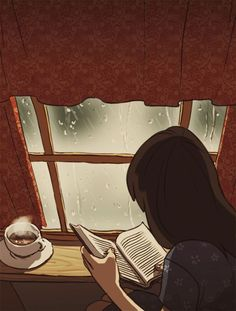Love to read free animated gifs - best reading books animation collection. Aesthetic Anime, Aesthetic Art, I Love Books, Good Books, Free Books, My Books, Winter Gif, Rain Animation, Gifs