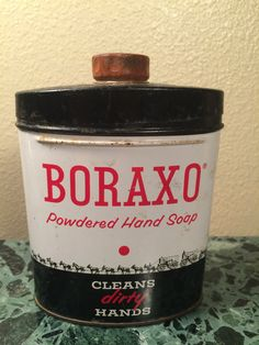 Boraxo Tin Vintage 20 Mule Team Hand Powdered Hand Soap Tin -8 oz. by MidCenturyAmericana on Etsy