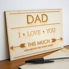 Wooden Postcard For Father's Day