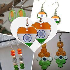 tri colour earrings jewellery for women