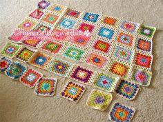 como juntar quadradinhos de crochê