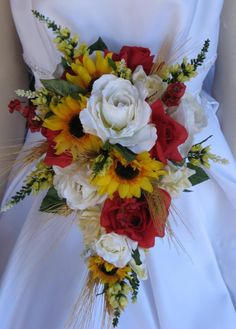 Country Lovin Wheat Wedding Fowers by BridalBouquets on Etsy, $70.00 @Delta Tally Hana What do y'all think of this one? a little bit country...