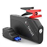 #9: Beatit 600A Peak 14000mAh Portable Car Jump Starter With Smart Jumper Cables (up to 5.5L Gas 4.0L Diesel Engine) Battery Booster Phone Power Bank Compass & Built-in Flashlight