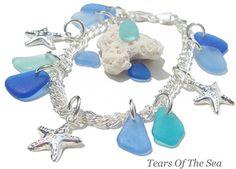Sea Glass Charm Bracelet