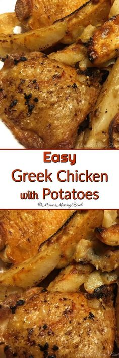 Easy Greek Chicken and Potatoes - Maria's Mixing Bowl