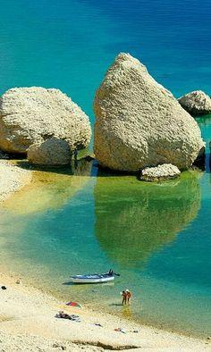 Beritnica beach on the island of Pag, Croatia